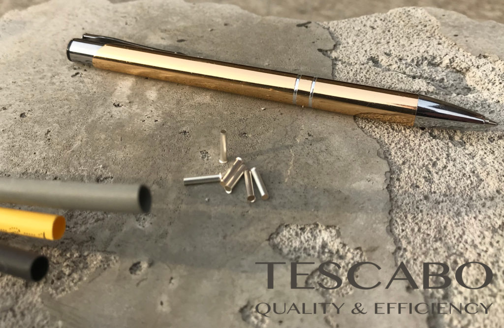 Clamping sleeves for Tescabo cable